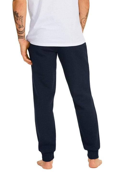 CHAMPION MEN'S SCRIPT CUFF NAVY TRACKPANTS - INSPORT