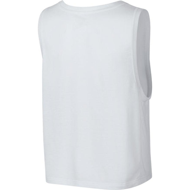NIKE WOMEN'S DRY TRAINING WHITE SINGLET