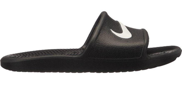 NIKE JUNIOR KAWA BLACK SLIDES
