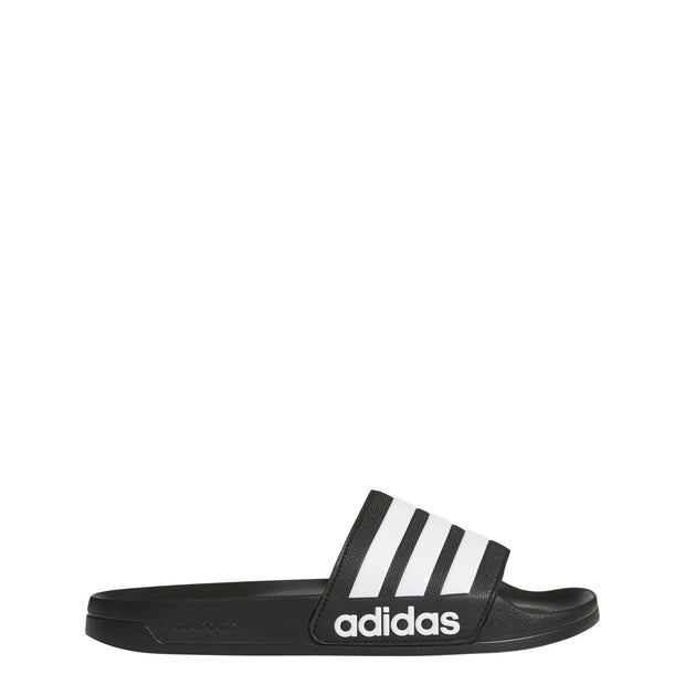 ADIDAS MEN'S ADILETTE CLOUDFOAM BLACK SLIDES