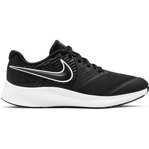 NIKE JUNIOR STAR RUNNER 2 BLACK/WHITE RUNNING SHOE