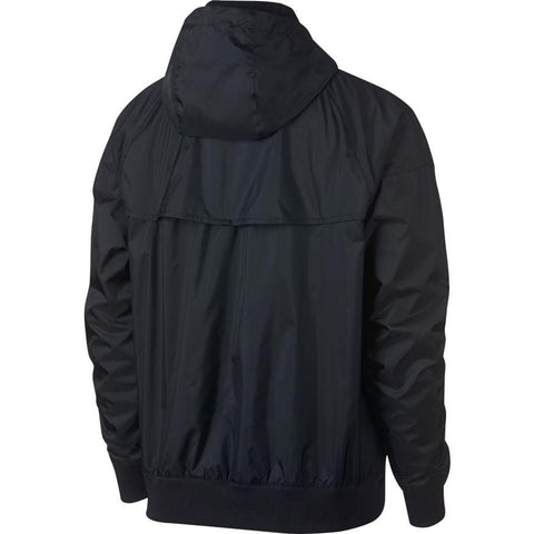 NIKE MEN'S SPORTSWEAR WINDRUNNER BLACK HOODED WINDBREAKER JACKET