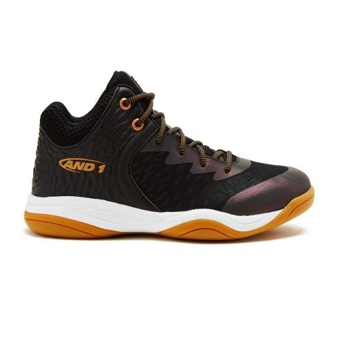 AND-1 JUNIOR ATTACK MID BLACK BASKETBALL SHOES - INSPORT