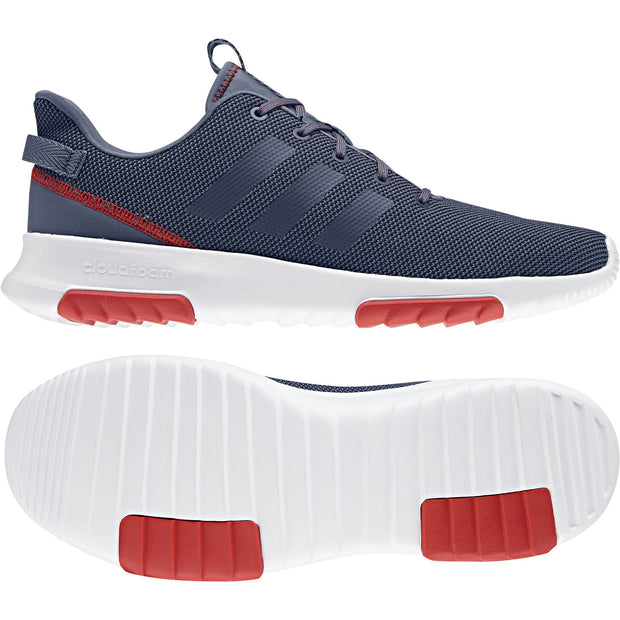 ADIDAS MEN'S CF RACER BLACK/RED SHOES - INSPORT