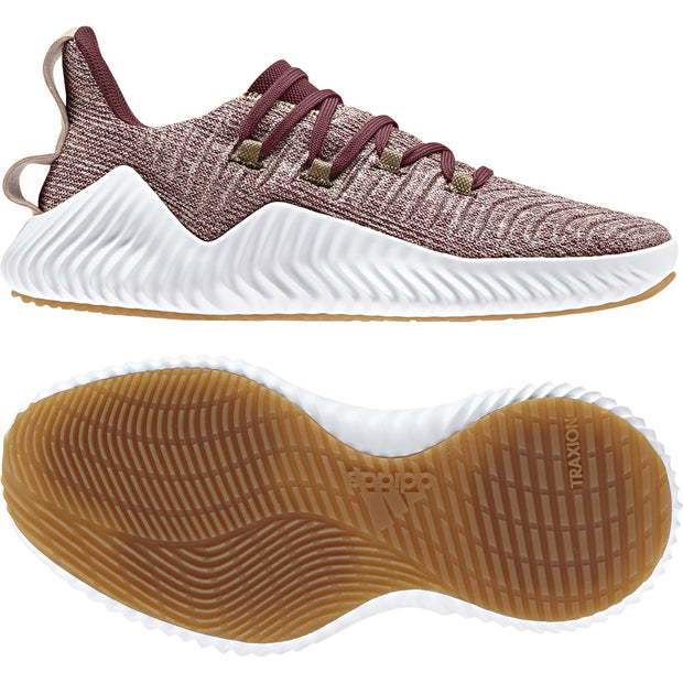 ADIDAS WOMEN'S ALPHABOUNCE MAROON TRAINER - INSPORT