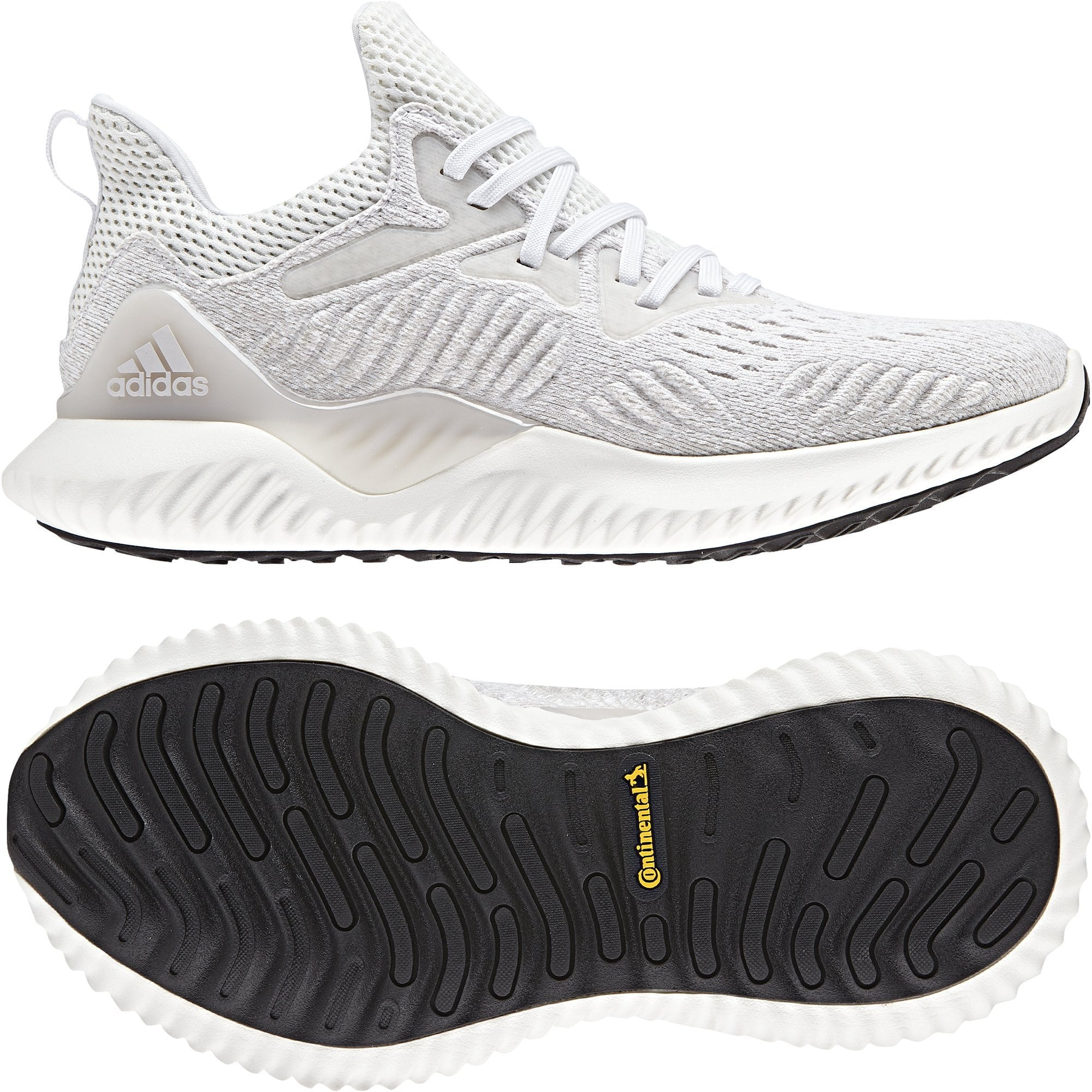 ADIDAS WOMEN'S RUNNING ALPHABOUNCE BEYOND WHITE/GREY SHOES - INSPORT