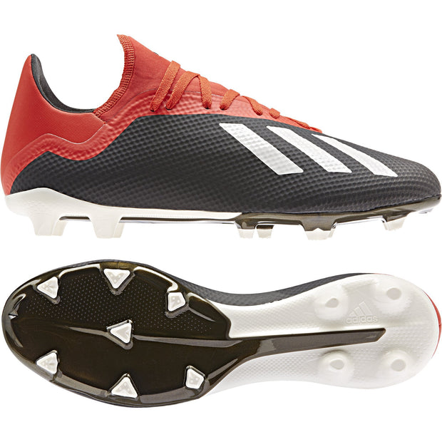 reputable site 99722 71592 ADIDAS MEN'S SOCCER X 18.3 FIRM GROUND CLEATS BLACK RED ...
