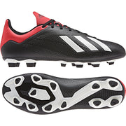 ADIDAS MEN'S SOCCER X 18.4 FLEXIBLE BLACK RED GROUND CLEATS BOOTS