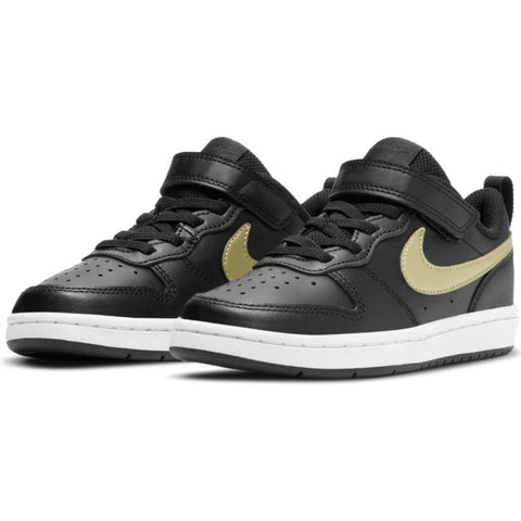NIKE TODDLER'S COURT BOROUGH LOW 2 BLACK SHOE