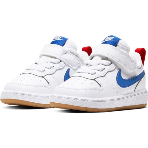 NIKE INFANT'S COURT BOROUGH LOW 2 WHITE BLUE SHOE