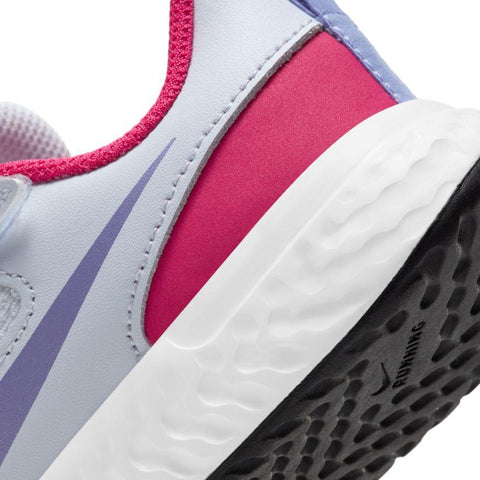 NIKE TODDLER'S REVOLUTION 5 GREY/PINK SHOES