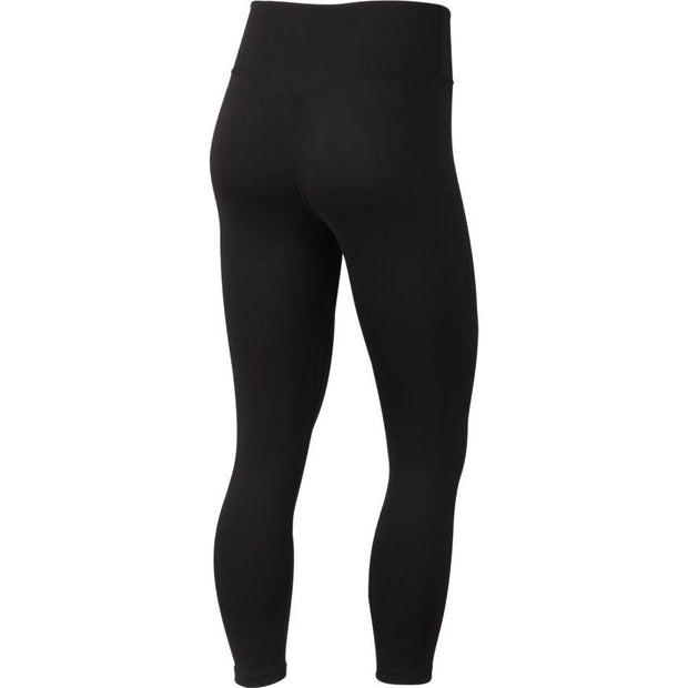 NIKE WOMEN'S ONE ALL-IN BLACK TRAINING CROP TIGHTS