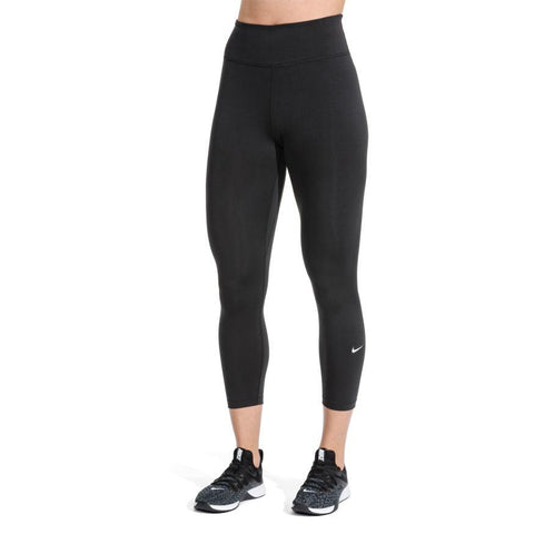 NIKE WOMEN'S ONE MID-RISE BLACK TIGHTS