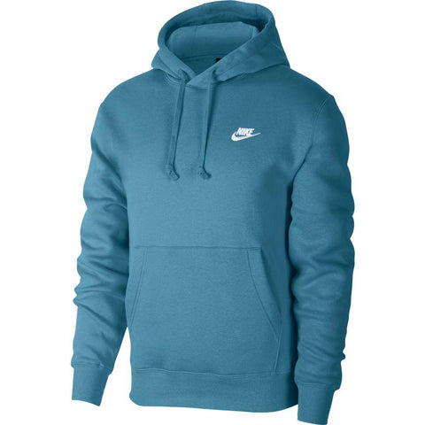 NIKE MEN'S SPORTSWEAR CLUB FLEECE PULLOVER BLUE HOODIE