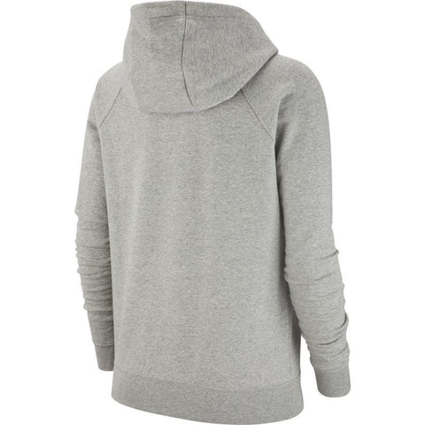 NIKE WOMEN'S SPORTSWEAR ESSENTIAL GREY FLEECE PULLOVER HOODIE