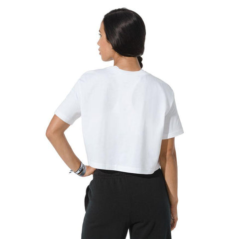NIKE WOMEN'S SPORTSWEAR ESSENTIAL WHITE CROPPED TEE
