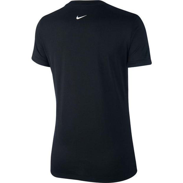 NIKE WOMEN'S DRI-FIT LEGEND BLACK TRAINING T-SHIRT