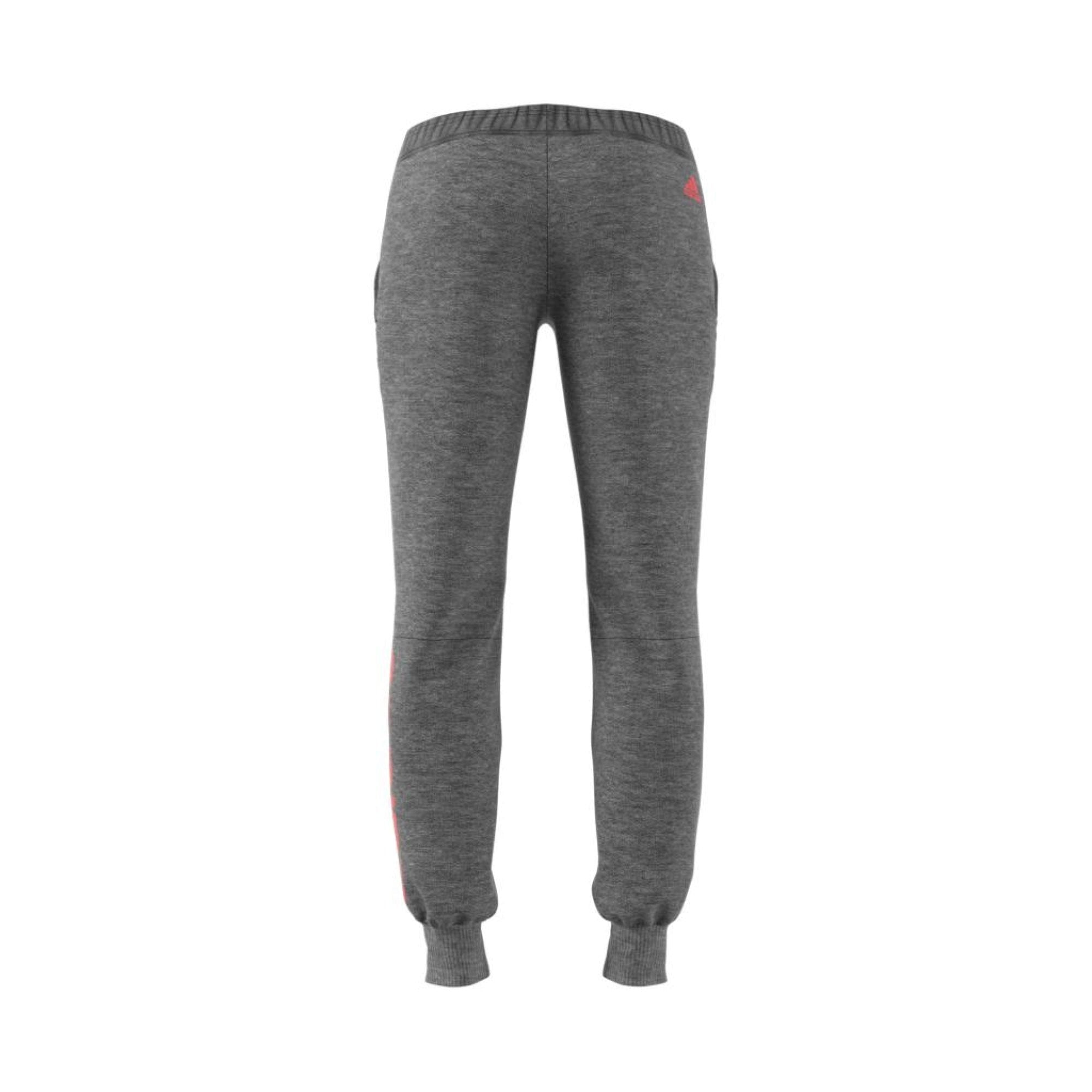 ADIDAS WOMENS ESSENTIALS LINEAR GREY FLEECE PANT - INSPORT