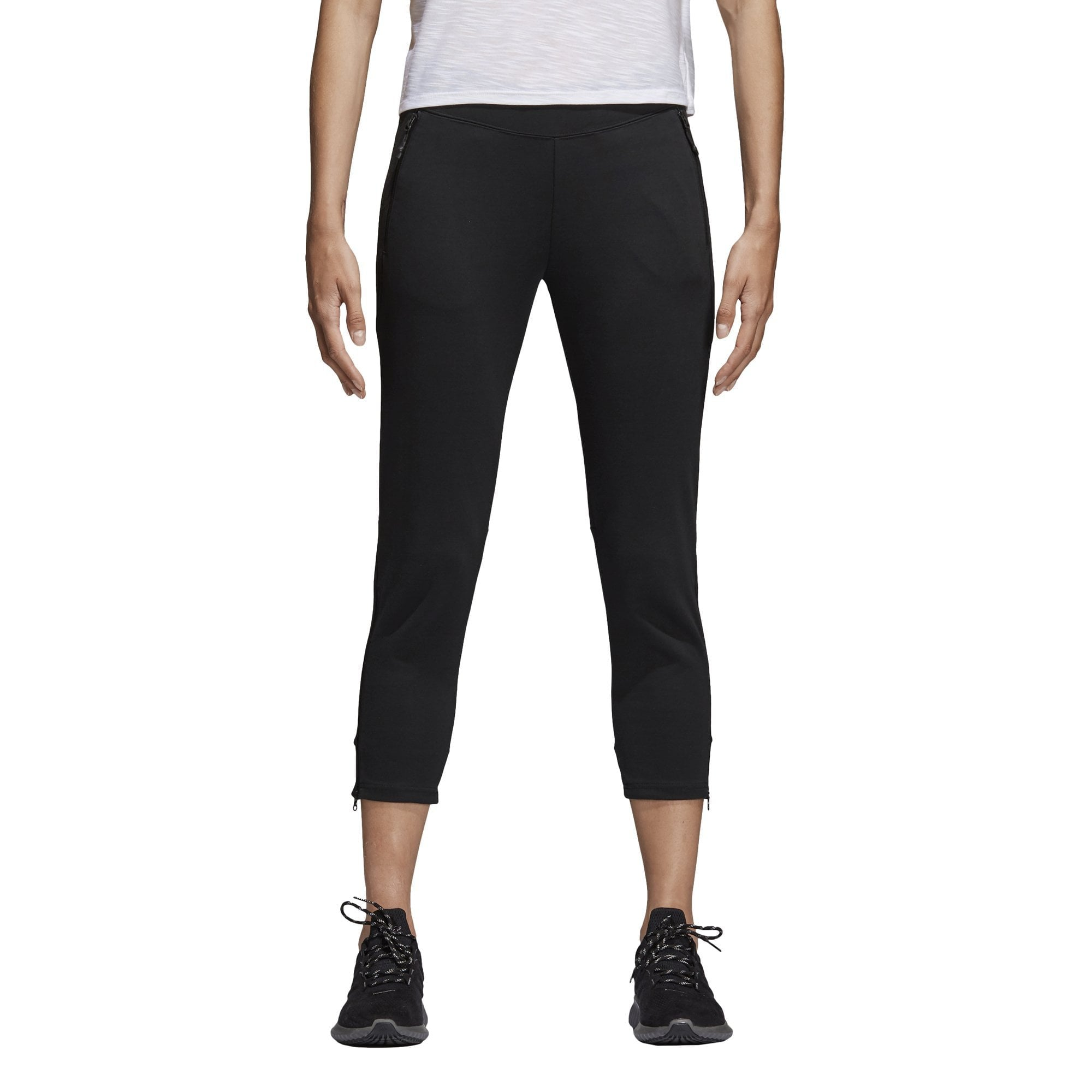 ADIDAS WOMEN'S ATHLETICS ID GLORY 7/8 BLACK SKINNY PANTS