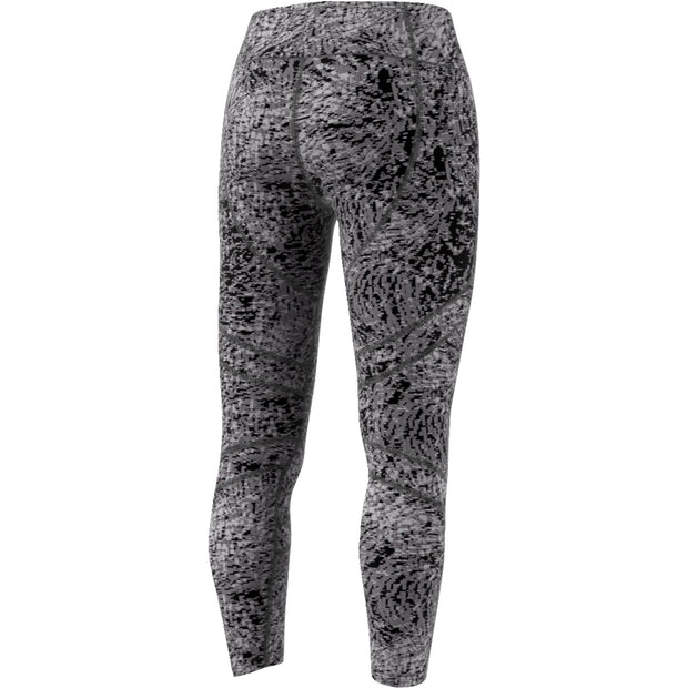 ADIDAS WOMEN'S RUNNING HOW WE DO 7/8 PRINTED BLACK TIGHTS - INSPORT