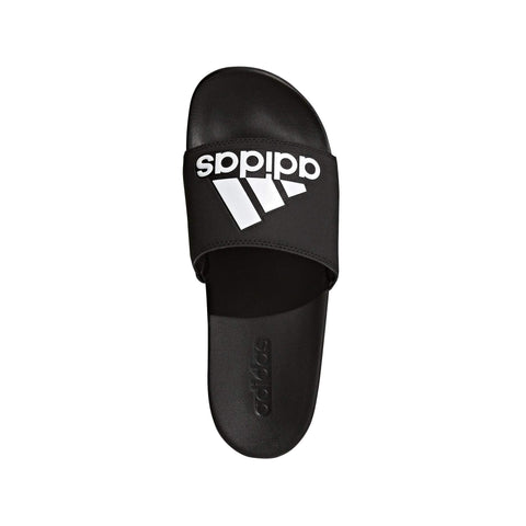 ADIDAS MEN'S TRAINING ADILETTE CLOUDFOAM PLUS LOGO BLACK SLIDES - INSPORT
