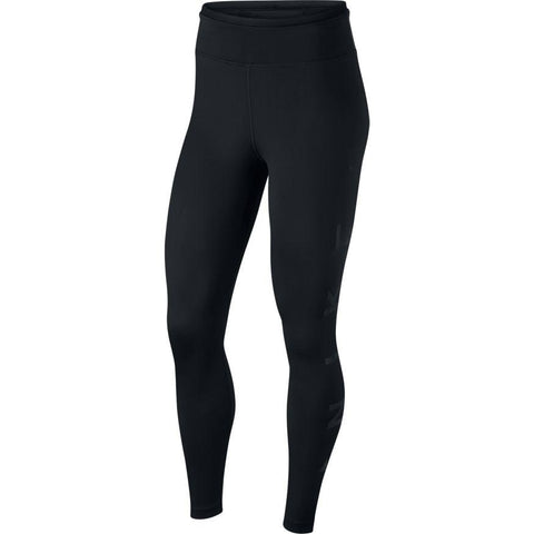 NIKE WOMEN'S ONE ICON CLASH GRAPHIC MID-RISE 7/8 BLACK TIGHTS