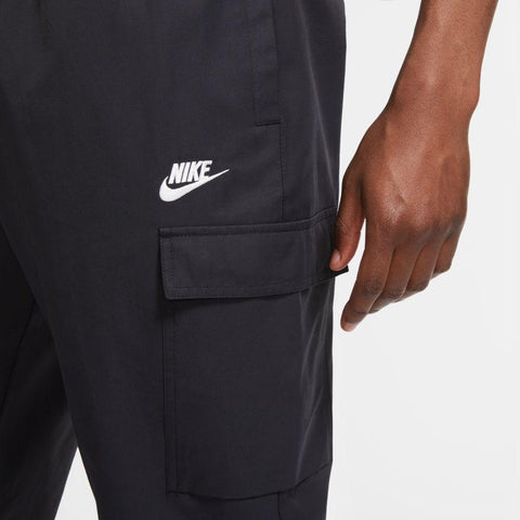 NIKE MEN'S SPORTSWEAR BLACK WOVEN CARGO PANTS