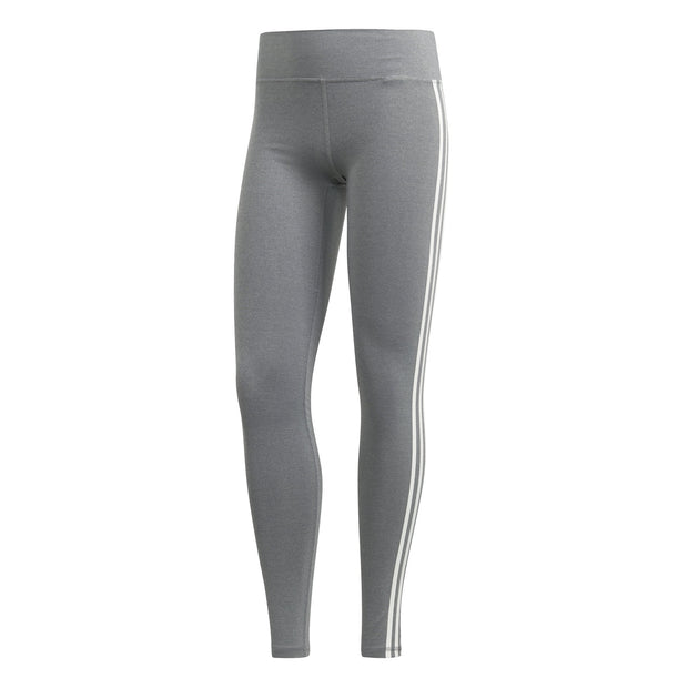 ADIDAS WOMEN'S TRAINING BELIEVE THIS 3-STRIPES GREY TIGHTS - INSPORT