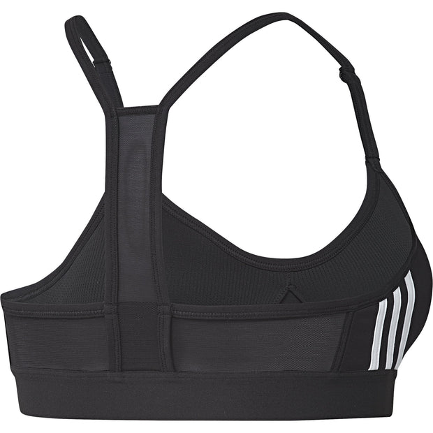 ADIDAS WOMEN TRAINING ALL ME 3-STRIPES BLACK BRA - INSPORT