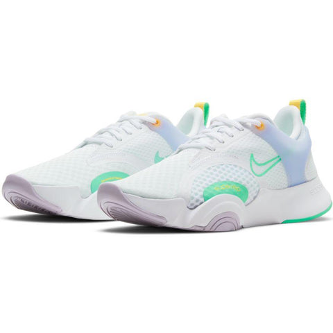 NIKE WOMEN'S SUPERREP GO 2 WHITE/GREEN TRAINING SHOE