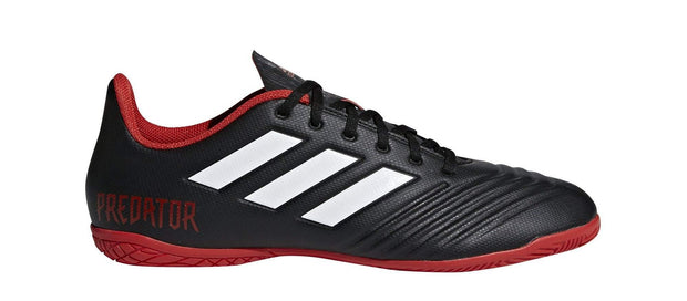 ADIDAS MEN'S PREDATOR TANGO 18.4 BLACK RED INDOOR FOOTBALL BOOTS - INSPORT