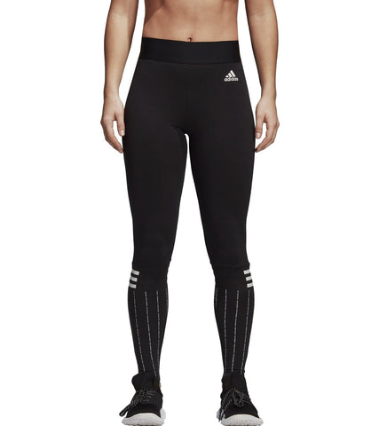 ADIDAS WOMEN ATHLETICS WOMEN'S ESSENTIALS 3-STRIPES BLACK PANTS