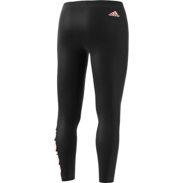 ADIDAS WOMEN'S TRAINING ESSENTIALS LINEAR BLACK/CORAL TIGHTS - INSPORT