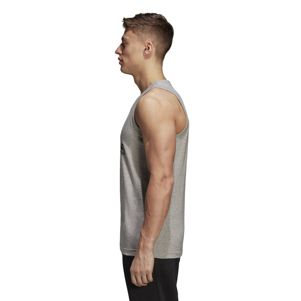 ADIDAS MEN'S BADGE OF SPORT CAMOUFLAGE GREY TANK TOP - INSPORT
