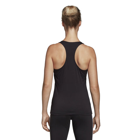 ADIDAS WOMEN'S LIFESTYLE ESSENTIALS LINEAR TANK BLACK TOP