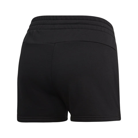 ADIDAS WOMEN'S LIFESTYLE ESSENTIALS LINEAR LOGO BLACK SHORTS
