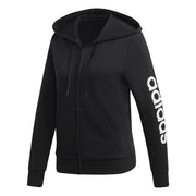 ADIDAS WOMEN'S ESSENTIALS LINEAR BLACK HOODIE