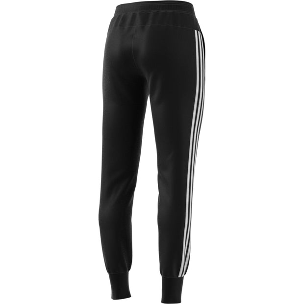 ADIDAS WOMEN'S ATHLETICS 3-STRIPES BLACK FRENCH TERRY PANTS