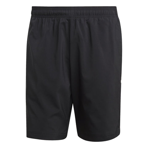 ADIDAS MEN'S LIFESTYLE ESSENTIALS LINEAR CHELSEA BLACK SHORTS