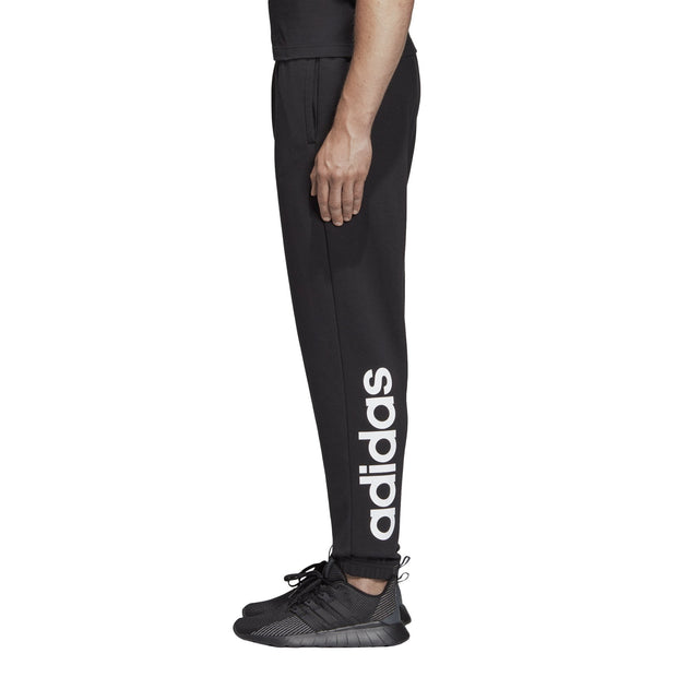 65db65bbba7e5c ADIDAS MEN S ATHLETICS ESSENTIALS LINEAR TAPERED BLACK TRACKPANTS - INSPORT