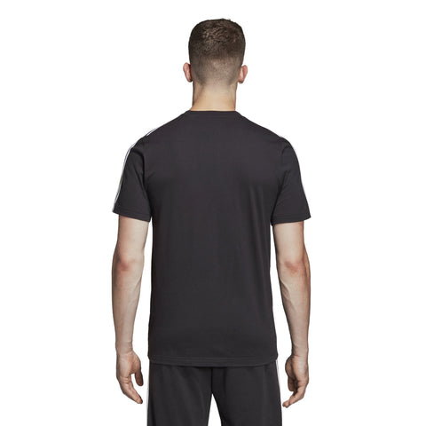 ADIDAS MEN'S LIFESTYLE ESSENTIALS 3-STRIPES BLACK TEE