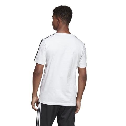 ADIDAS MEN'S ESSENTIALS 3-STRIPES WHITE TEE