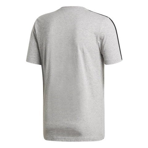 ADIDAS MEN'S LIFESTYLE ESSENTIALS 3-STRIPES GREY TEE