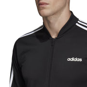 ADIDAS MEN'S ESSENTIALS 3-STRIPES BLACK FULL SET TRACKSUIT