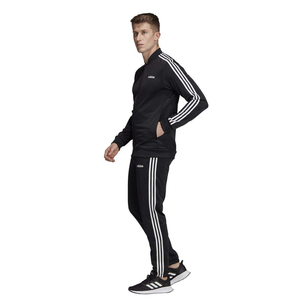 ADIDAS MEN'S 3-STRIPES BLACK TRACK SUIT - INSPORT