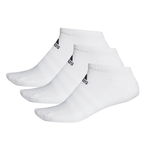ADIDAS CUSHIONED LOW-CUT WHITE SOCKS (3 PAIRS)