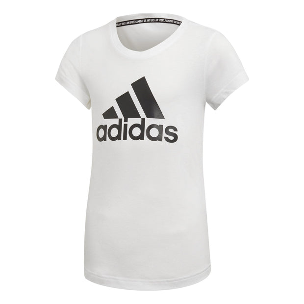 ADIDAS KID'S TRAINING MUST HAVES BADGE OF SPORT WHITE TEE
