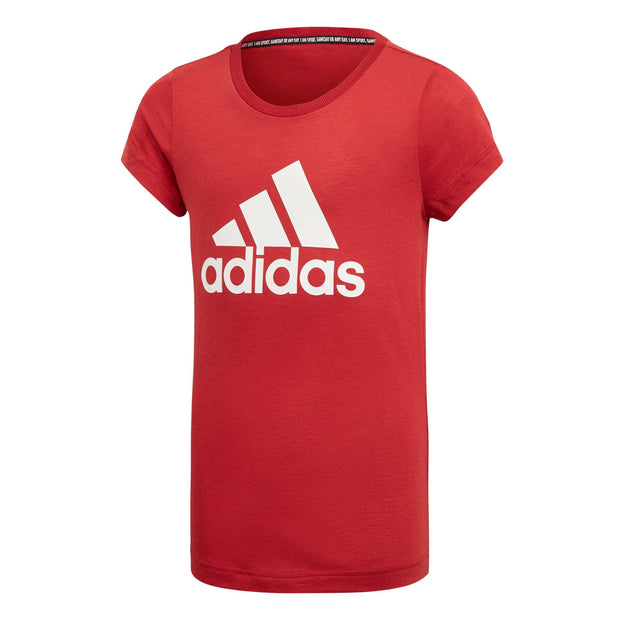 ADIDAS KID'S TRAINING MUST HAVES BADGE OF SPORT RED TEE