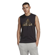ADIDAS MEN'S MUST HAVES BADGE OF SPORT BLACK GOLD TANK TOP