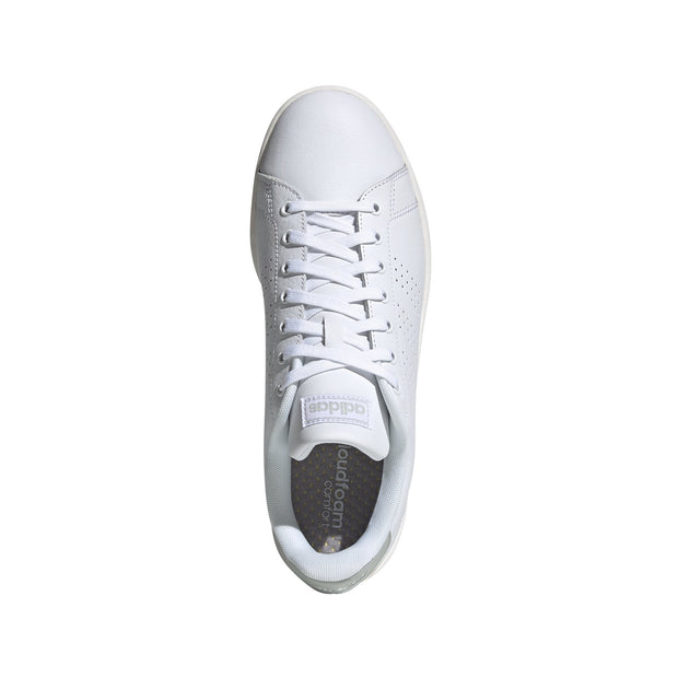 ADIDAS MEN'S TENNIS ADVANTAGE WHITE SNEAKERS